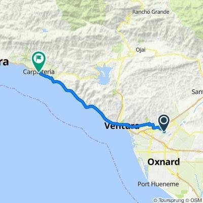 1551 Cardigan Ave, Ventura to 5065 Carpinteria Ave, Carpinteria