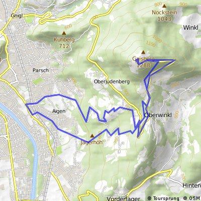 Gaisberg inkl Downhill Trail Bikemap Your bike routes
