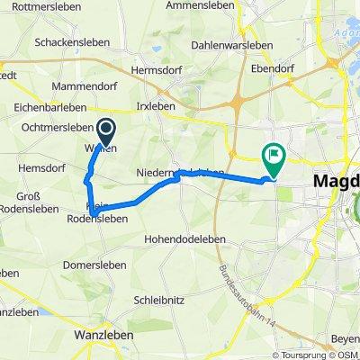 Ferdinand-Lentjes-Straße 78, Hohe Börde nach Kümmelsberg 15, Magdeburg