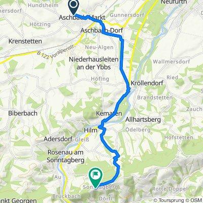 Steyrer Straße 9–13, Aschbach-Markt nach Ort Sonntagberg 9, Sonntagberg