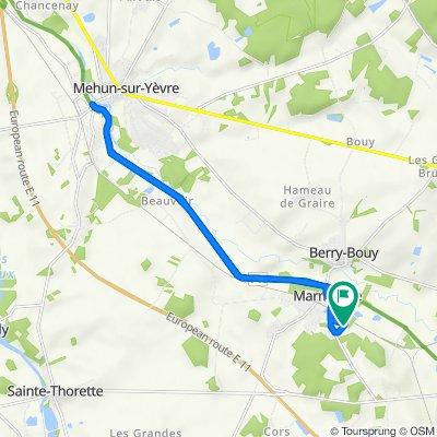 De 25 Chemin du Bocage, Marmagne à 26 Résidence de la Croix Saint-Marc, Marmagne