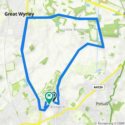 42 Buxton Road, Walsall to 7 Bamford Road, Walsall