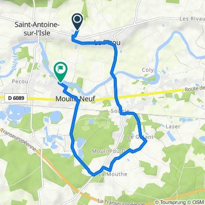De 1029A Chemin du Mange-Vent, Le Pizou à 10 Rue de l'Isle, Moulin-Neuf