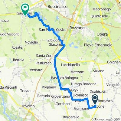 Da Via Torre Civica, Zeccone a Via Giancarlo Puecher 20/5, Gaggiano