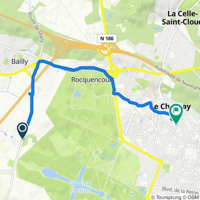 De Route de Saint-Cyr, Bailly à 28 Rue Corneille, Le Chesnay