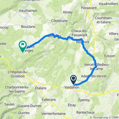 De 3 Rue de l'Oratoire, Valdahon à Route de l'Hôpital-du-Grosbois, Naisey-les-Granges
