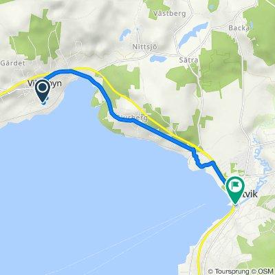 Hagvägen 5, Vikarbyn to Nordahls väg 1, Rättvik