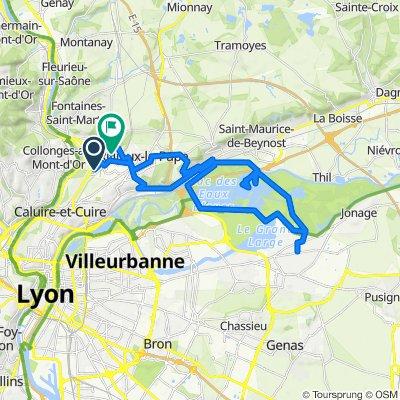 De 2bis Avenue des Bruyères, Fontaines-sur-Saône à 13 Avenue du Boutarey, Sathonay-Camp