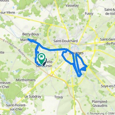 De 4 Impasse de Provence, La Chapelle-Saint-Ursin à 2 Allée Lavoisier, La Chapelle-Saint-Ursin