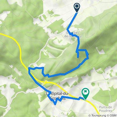 De Route de l'Hôpital-du-Grosbois, Naisey-les-Granges à D387, Etalans