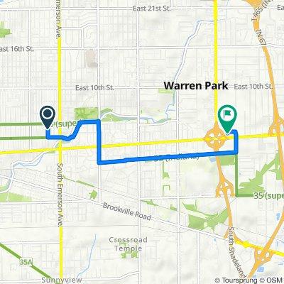 420 N Riley Ave, Indianapolis to 7140 E Washington St, Indianapolis