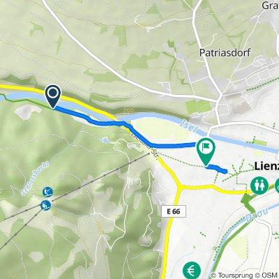 Felbertauern-Bundesstraße 72, Lienz nach Franz-von-Defregger-Straße 11–13, Lienz