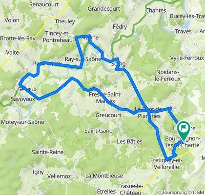 De D33, Bourguignon-lès-la-Charité à 10 Rue du Moulin, Bourguignon-lès-la-Charité