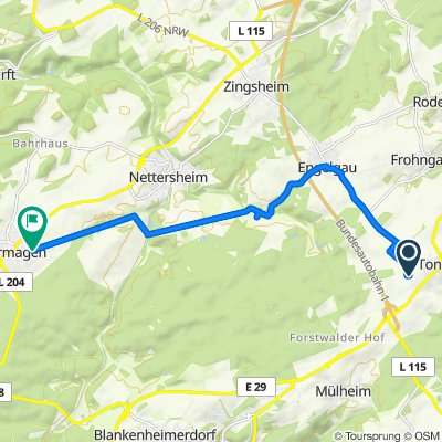 Unnamed Road, Nettersheim nach Heideweg 7B, Nettersheim
