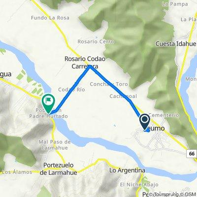 De Aguas Claras 372, Peumo a H-774, Peumo