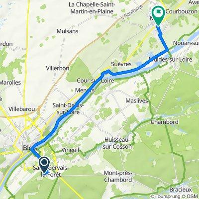 De 3 Rue Antoinette de Lauzières, Saint-Gervais-la-Forêt à 2 Rue du Chemin Vieux, Mer