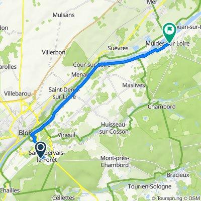 De 11 Rue André Jeulin, Saint-Gervais-la-Forêt à 2 Rue de Sologne, Muides-sur-Loire