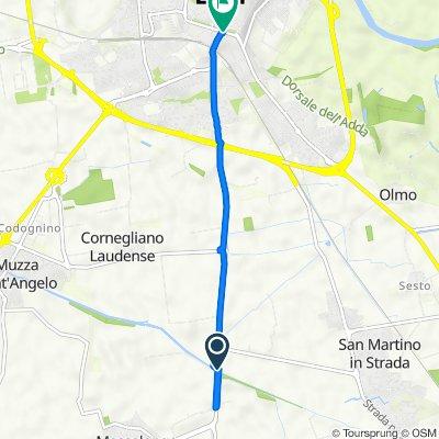 Da Via San Colombano, San Martino in Strada a Viale Agnelli 24/A, Lodi