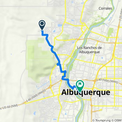 10305 Avenida Vista Cerros NW, Albuquerque to 504 14th St SW, Albuquerque