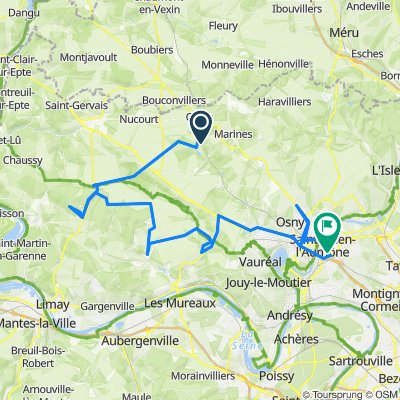 De 49 D159, Brignancourt à 27 Chaussée Jules César, Saint-Ouen-l'Aumône