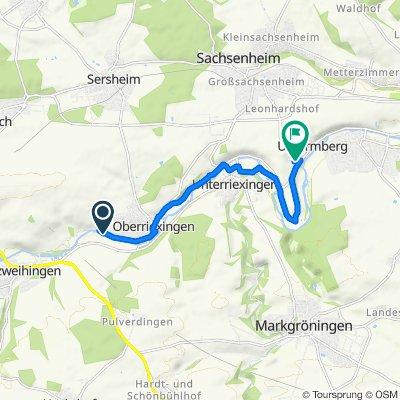 Route nach Rieslingweg 24, Bietigheim-Bissingen