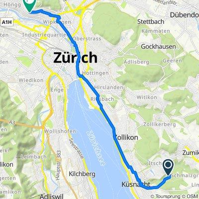 Geissbühlweg 41, Küsnacht nach Rebbergstrasse 77, Zürich