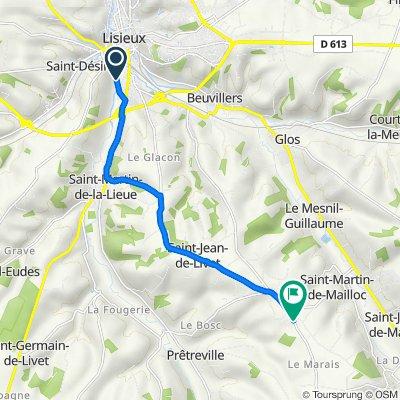 De 7 Avenue Georges Pompidou, Lisieux à 92 Route de Saint-Cyr du Ronceray, Saint-Martin-de-Mailloc