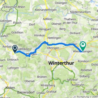 Ziegelhüttenweg, Embrach nach Dorfstrasse 54–68C, Wiesendangen