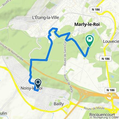 Itinéraire à partir de 27 Résidence de l'Orée de Marly, Noisy-le-Roi