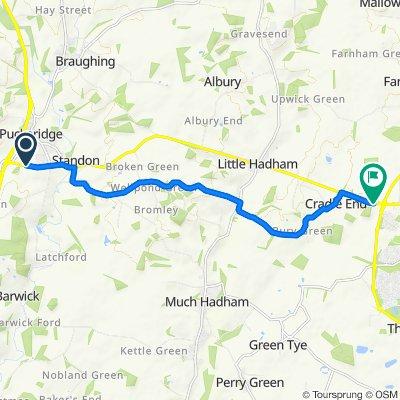 Standon Hill, Standon, Ware to Hadham Road, Little Hadham, Bishop'S Stortford