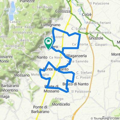 Da Via Ragazzi del '99 64, Castegnero a Via Ragazzi del '99 64, Castegnero