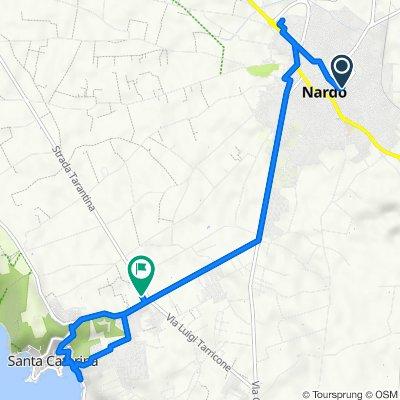 Da Via Giosuè Carducci 1, Nardò a Via Petrocelli 14, Nardò