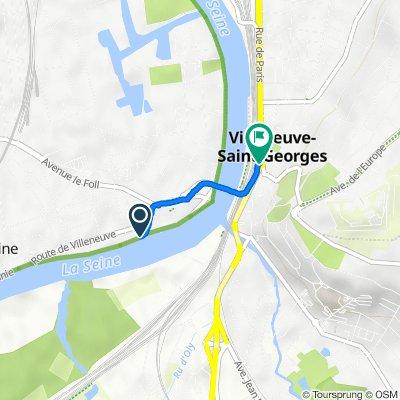 De 19 Quai de Halage, Villeneuve-le-Roi à N6, Villeneuve-Saint-Georges