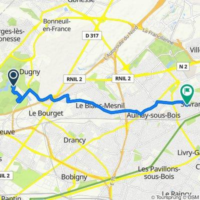 De Parc Départemental de la Courneuve, La Courneuve à 2 Allée La Fontaine, Sevran