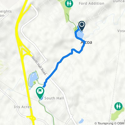 Route from 1200 Springbrook Rd, Alcoa
