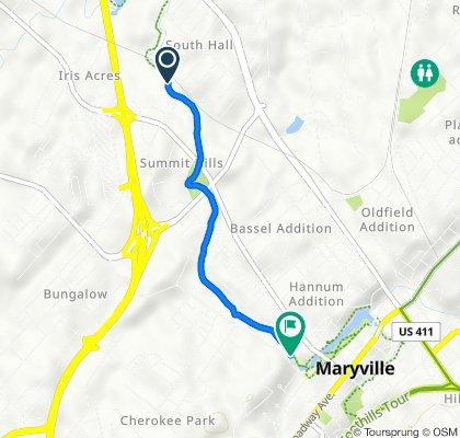 401–405 Marilyn Ln, Alcoa to 428–554 McCammon Ave, Maryville