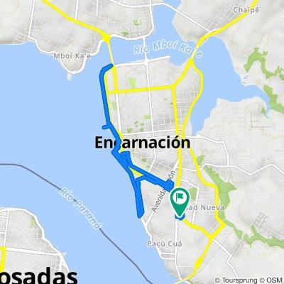 De Avenida San Roque Gonzalez de Santa Cruz, Encarnación a Avenida San Roque Gonzalez de Santa Cruz, Encarnación