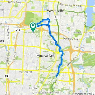 6625 Kennerdown St, Columbus to 2025 Willow Glen Ln, Columbus