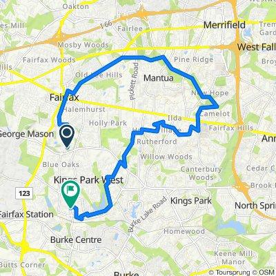 4520 Patriot Cir, Fairfax to 5440 New London Park Dr, Fairfax