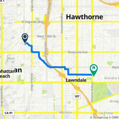 621 Hawaii St, El Segundo to 15423 Roselle Ave, Lawndale