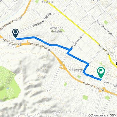 San Jose Creek Bike Path, Whittier to 1012 Larchwood Ave, Hacienda Heights