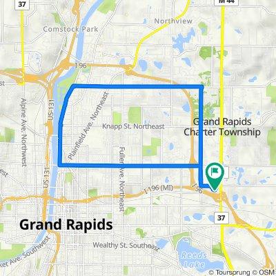 707 E Beltline Ave NE, Grand Rapids to 707 E Beltline Ave NE, Grand Rapids