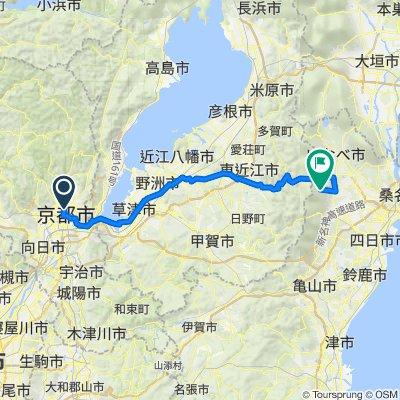 Kami-dachiuri-dori Street, Kamigyo, Kyoto to Tabika, Komono, Mie-Gun