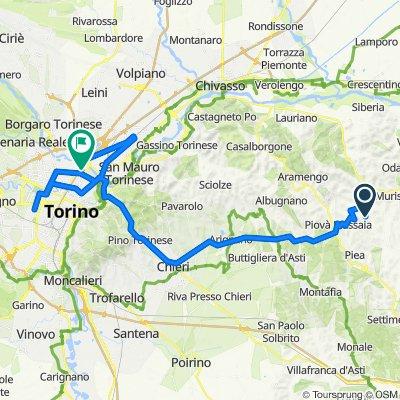 Da Frazione Rocca 34, Montiglio Monferrato a Corso Vercelli 255–261, Torino