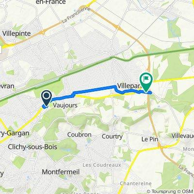De Zone Commerciale, Livry-Gargan à Route de Villevaudé, Villeparisis
