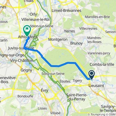 De 48 Route Nationale 6, Lieusaint à 6 Rue Paul Vaillant Couturier, Athis-Mons