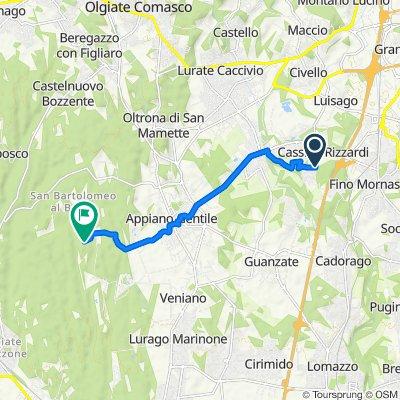 Da Via Agostino Monti 541, Cassina Rizzardi a Unnamed Road, Tradate