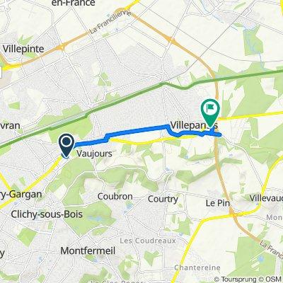 Itinéraire à partir de Zone Commerciale, Livry-Gargan
