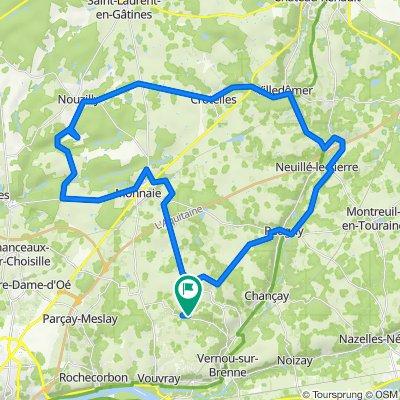 De Route de Vaugondy 131, Vernou-sur-Brenne à Route de Vaugondy 131, Vernou-sur-Brenne