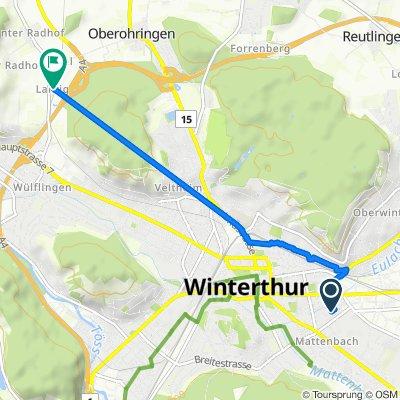Eigenheimweg 53, Winterthur nach Riedhofstrasse 92a, Winterthur